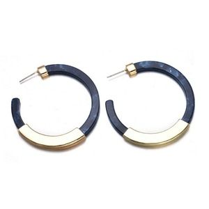 Acrylic Resin Earrings Tortoise Shell Boho Women